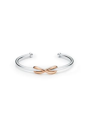 Tiffany Infinity cuff in sterling silver and 18k rose gold, large