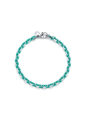 Bracelet chain in sterling silver with Tiffany Blue® enamel finish, large