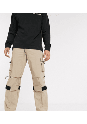 COLLUSION nylon trouser with panels-Brown