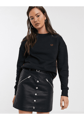 Fred Perry taped sweatshirt-Black