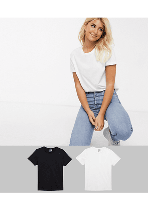 ASOS DESIGN Fuller Bust ultimate organic cotton crew neck t-shirt 2 pack SAVE-Multi