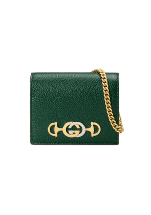 Gucci Zumi grainy leather card case wallet
