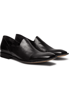 Officine Creative - Mondrian Collapsible-heel Leather Loafers - Black