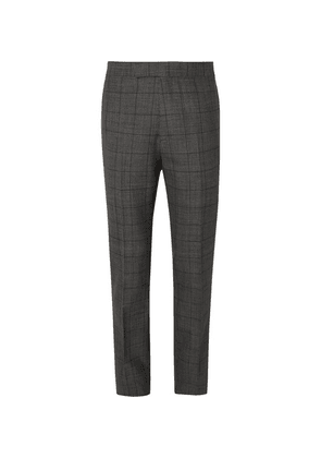 Kingsman - Grey Slim-fit Prince Of Wales Checked Wool Suit Trousers - Gray