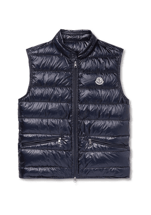 Moncler - Slim-fit Quilted Shell Down Gilet - Navy