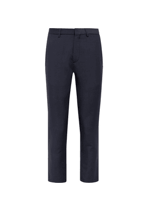 Caruso - Navy Slim-fit Cropped Wool And Mohair-blend Trousers - Navy