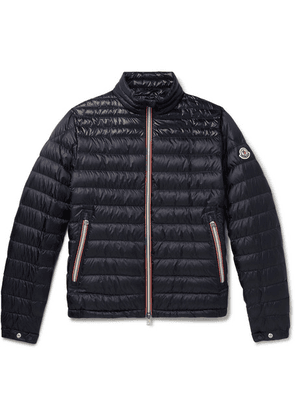 Moncler - Daniel Webbing-trimmed Quilted Shell Down Jacket - Navy
