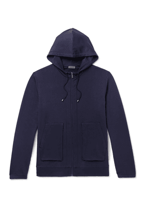 Zimmerli - Slim-fit Stretch Micro Modal And Cotton-blend Zip-up Hoodie - Navy