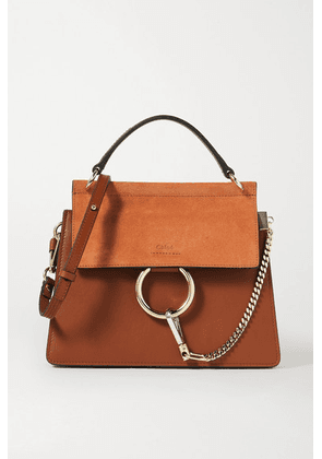 Chloé - Faye Leather And Suede Shoulder Bag - Brown
