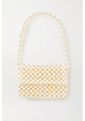 Vanina - + Net Sustain The Pearl Mist Faux Pearl And Gold-plated Shoulder Bag - White