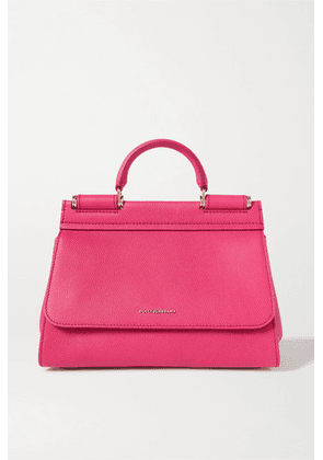 Dolce & Gabbana - Sicily Small Textured-leather Tote - Pink