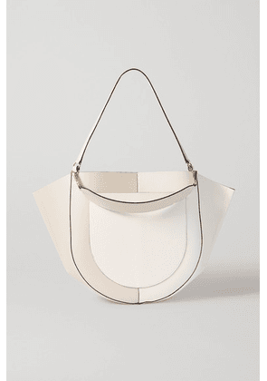 Wandler - Mia Large Two-tone Leather Shoulder Bag - White
