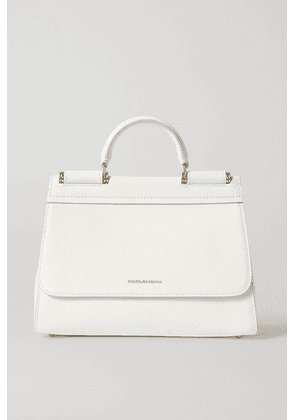 Dolce & Gabbana - Sicily Small Textured-leather Tote - White