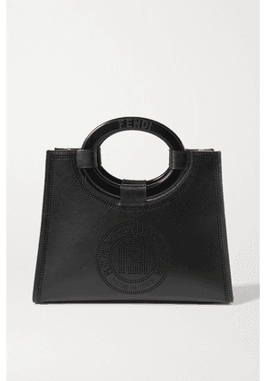 Fendi - Small Perforated Leather Tote - Black