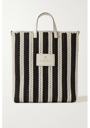 Anya Hindmarch - Neeson Woven Leather Tote - Black