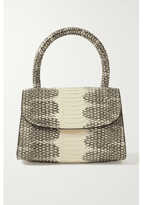BY FAR - Mini Snake-effect Leather Tote - Snake print