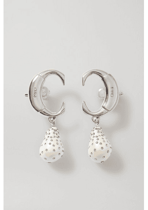 Chloé - Darcey Silver-tone, Faux Pearl And Crystal Clip Earrings - Gold