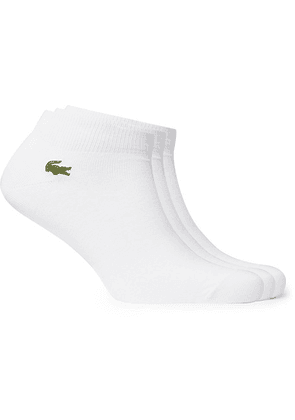 Lacoste Tennis - Three-pack Logo-embroidered Cotton-blend No-show Socks - White