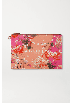 Givenchy - Iconic Medium Floral-print Coated-canvas Pouch - Pink