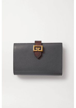 Givenchy - Gv3 Medium Smooth And Textured-leather Wallet - Gray