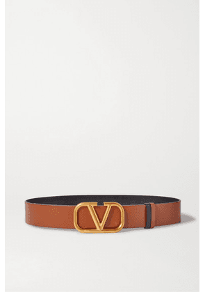 Valentino - Valentino Garavani Reversible Leather Belt - Brown
