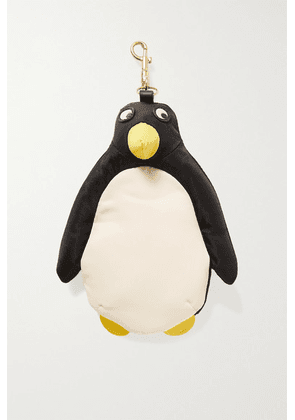 Anya Hindmarch - Shopper Penguin Leather-trimmed Shell Bag Charm - Black