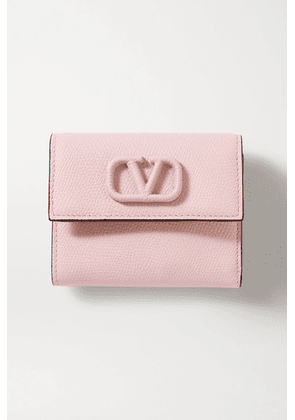 Valentino - Valentino Garavani Vsling Textured-leather Wallet - Pink