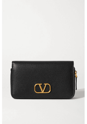 Valentino - Valentino Garavani Vsling Textured-leather Wallet - Black