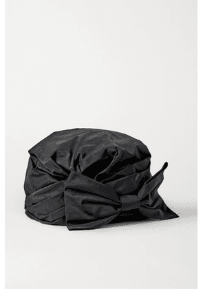 Maison Michel - Zoe Bow-embellished Taffeta Turban - Black