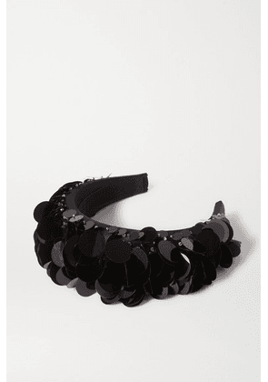 Prada - Paillette-embellished Satin Headband - Black