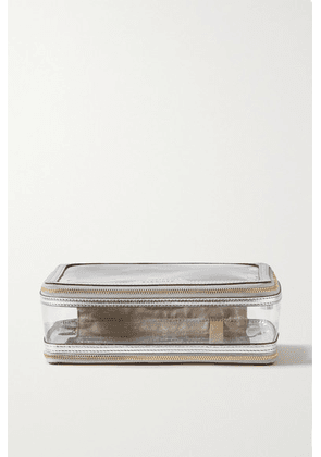 Anya Hindmarch - Inflight Metallic Leather-trimmed Perspex Cosmetics Case - Silver