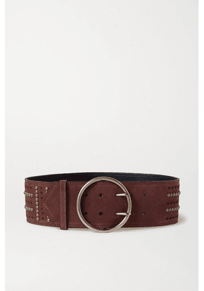 Etro - Studded Suede Waist Belt - Brown