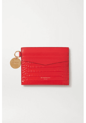 Givenchy - Gv3 Croc-effect Leather Cardholder - Red
