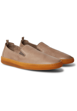 Officine Creative - Key Full-grain Leather Slip-on Sneakers - Taupe