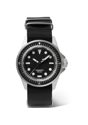 Unimatic - U1-f Automatic Stainless Steel And Nato Webbing Watch - Black