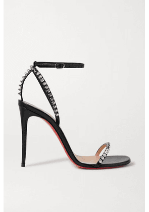 Christian Louboutin - So Me 100 Studded Leather Sandals - Black
