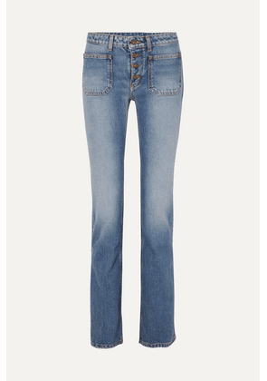 SAINT LAURENT - Low-rise Flared Jeans - Indigo