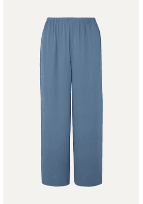 Theory - Cropped Silk-crepe Straight-leg Pants - Blue