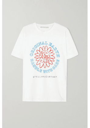 Stella McCartney - + Net Sustain Printed Organic Cotton-jersey T-shirt - White