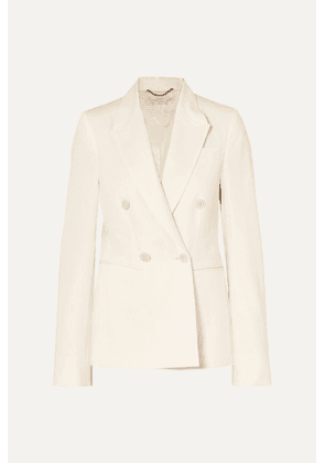 Stella McCartney - Double-breasted Wool-twill Blazer - Cream