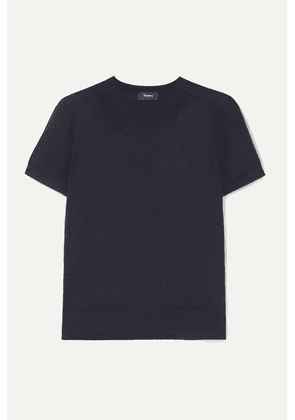 Theory - Wool-blend T-shirt - Navy