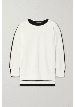 Stella McCartney - Two-tone Knitted Sweater - White