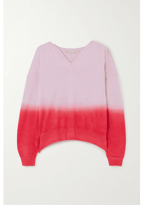 Stella McCartney - + Net Sustain Ombré Cashmere And Wool-blend Sweater - Pink