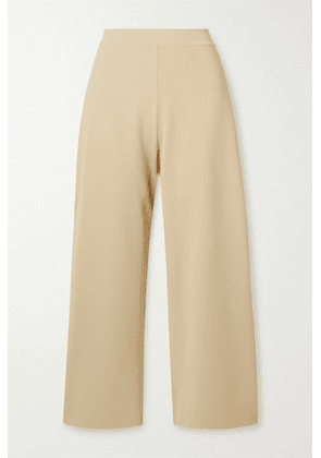 Stella McCartney - + Net Sustain Stretch-knit Culottes - Pastel yellow