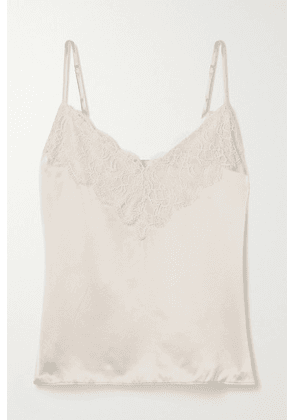 Cami NYC - The Katya Lace-trimmed Silk-charmeuse Camisole - Cream
