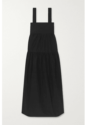 Three Graces London - Cosette Tiered Cotton-poplin Maxi Dress - Black