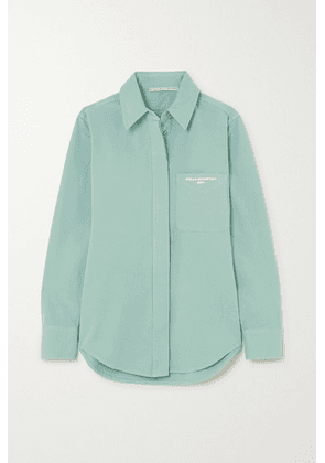 Stella McCartney - Printed Stretch-cotton Twill Shirt - Mint