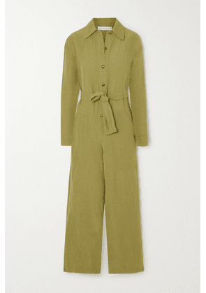 Etro - Linen-blend Jumpsuit - Army green