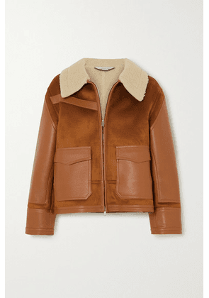 Stella McCartney - Faux Suede, Leather And Shearling Jacket - Brown