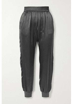 Cami NYC - The Sadie Silk-charmeuse Track Pants - Gray